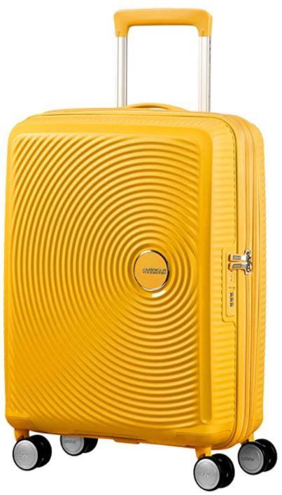bagage a main rigide American Tourister jaune