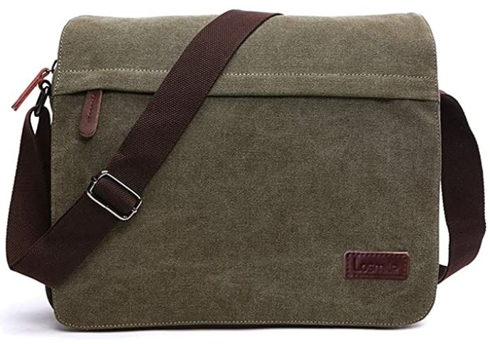 besace pour homme losmile sac en bandouliere vert kaki