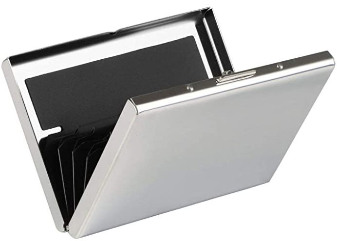 etui en aluminium URAQT pour carte de credit anti RFID