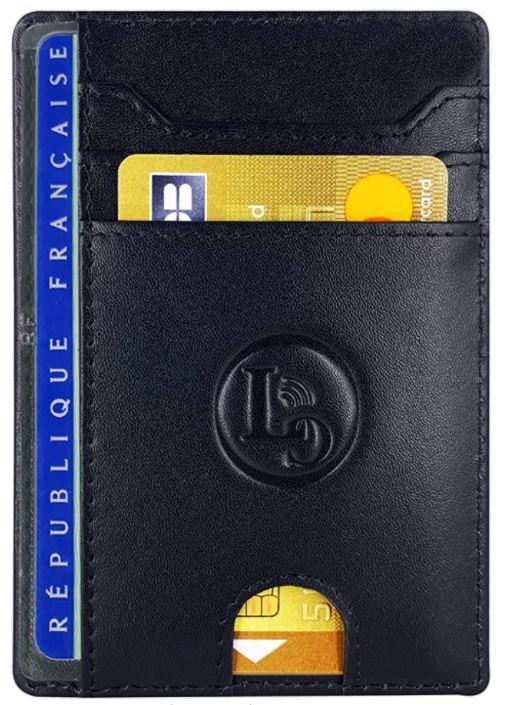 porte carte en cuir anti RFID LuxyGo