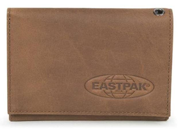 portefeuille Eastpak en cuir marron pour homme