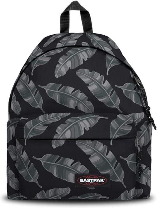 sac a dos Eastpak Padded Pakr noir et gris brize leave