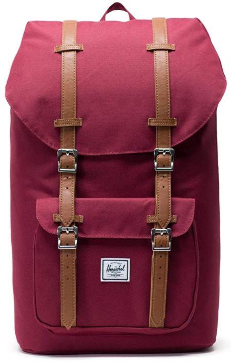 sac a dos Herschel little america couleur vin rouge