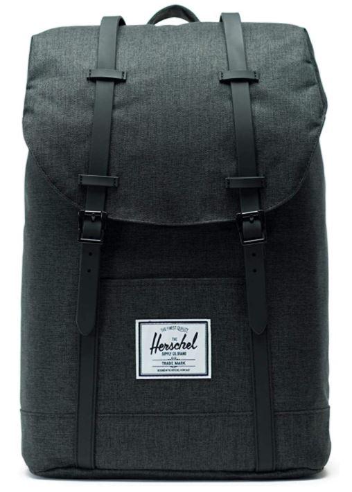 sac a dos Herschel retreat noir hachure