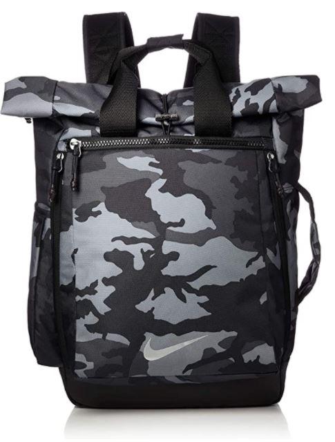 sac a dos Nike printed camouflage militaire gris et noir