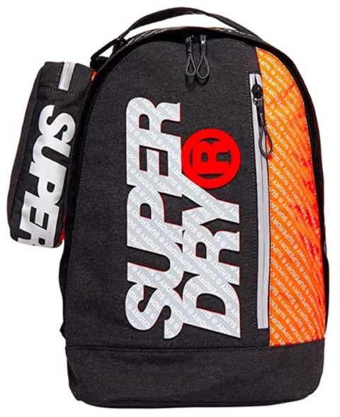sac a dos Superdryzac Freshman noir et orange
