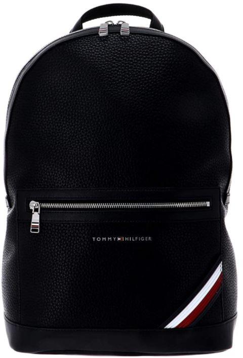 sac a dos Tommy Hilfiger homme en cuir noir version Downtown