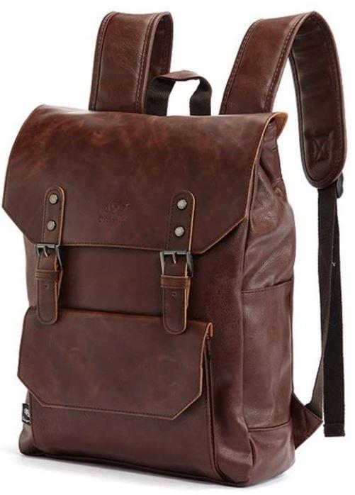 sac a dos de style masculin en cuir marron YFbear