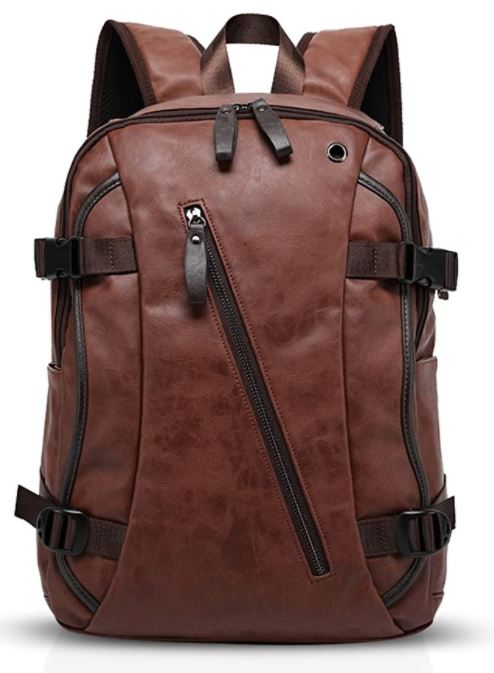 sac a dos en cuir marron fonce pour homme Fandare