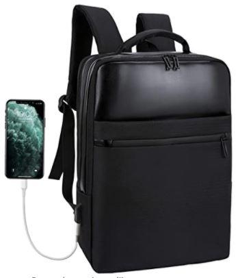 sac a dos en cuir noir pour homme marque Xnuoyo