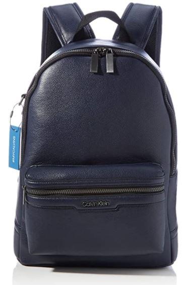 sac a dos en cuir pour homme Calvin Klein bleu marine