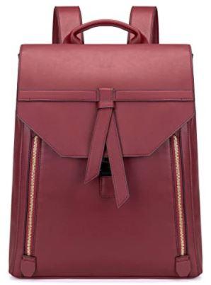 sac a dos en cuir rose rouge Estarer pour femme
