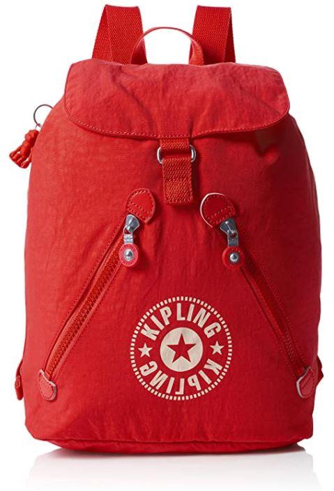 sac a dos femme Kipling fondamental rouge