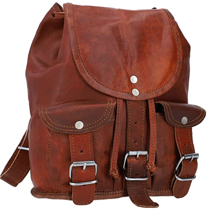 sac a dos femme en cuir marron style vintage