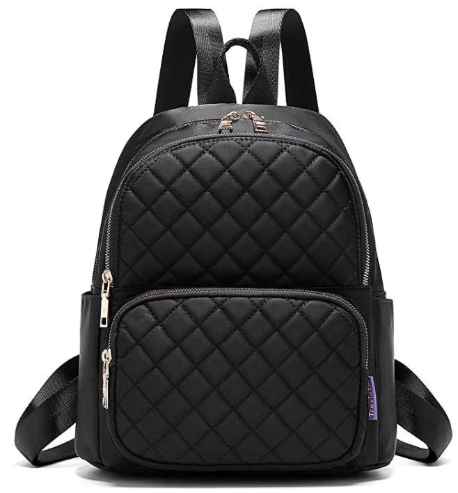 sac a dos femme en cuir noir marque Travistar