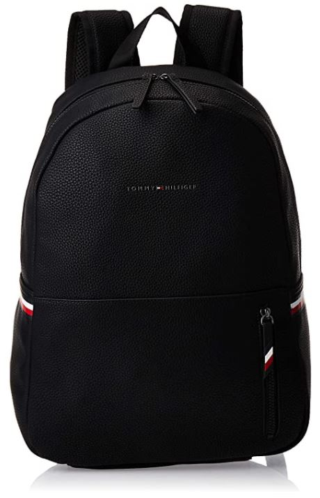 sac a dos masculin Tommy Hilfiger en cuir noir modele Essential