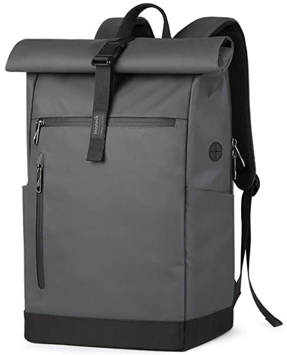 sac a dos ordinateur impermeable inateck gris