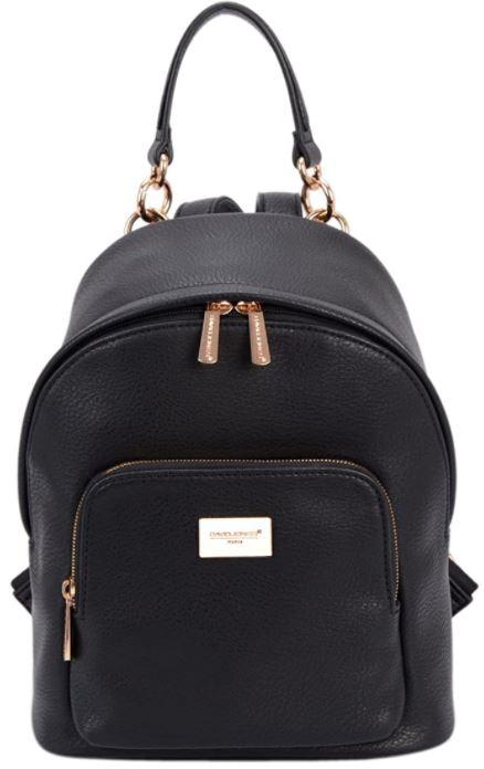 sac a dos voyage david jones en cuir noir pour femme
