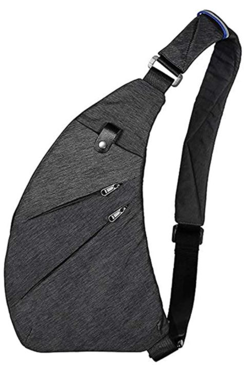 sac de poitrine masculin Wishliker en tissu gris