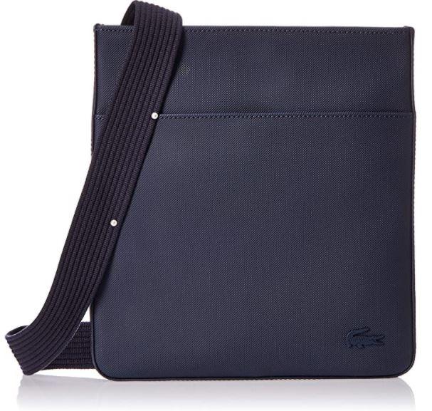 sacoche Lacoste homme NH2850Hc en cuir noir