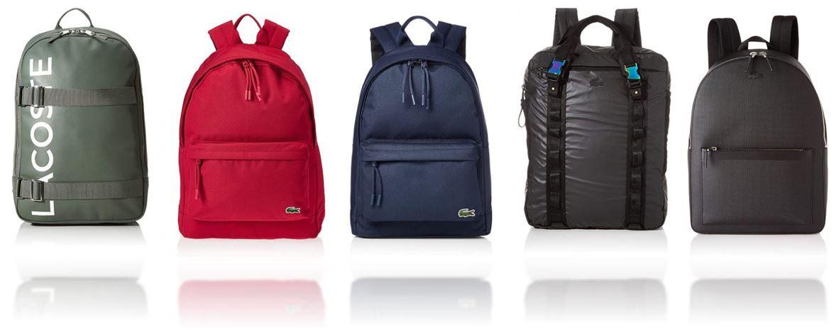 sacs a dos Lacoste pour homme comparatif