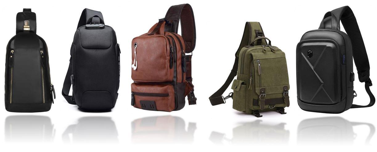 sacs de poitrine pour homme comparatif