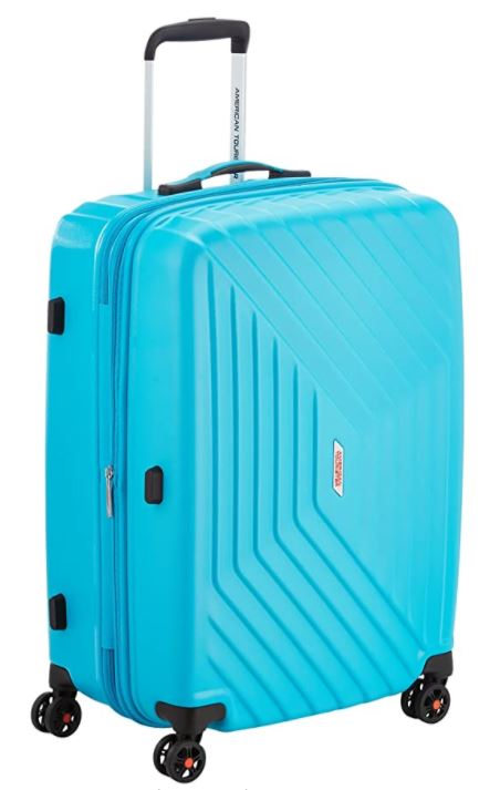 valise american tourister air force spinner bleu turquoise