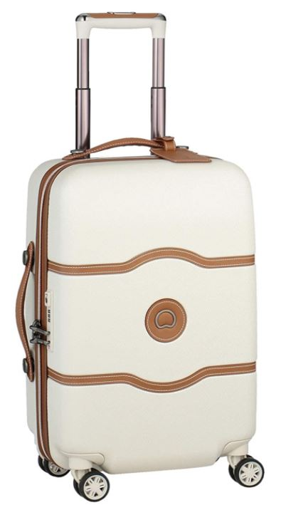 valise cabine Delsey Paris chatelet air blanche et marron
