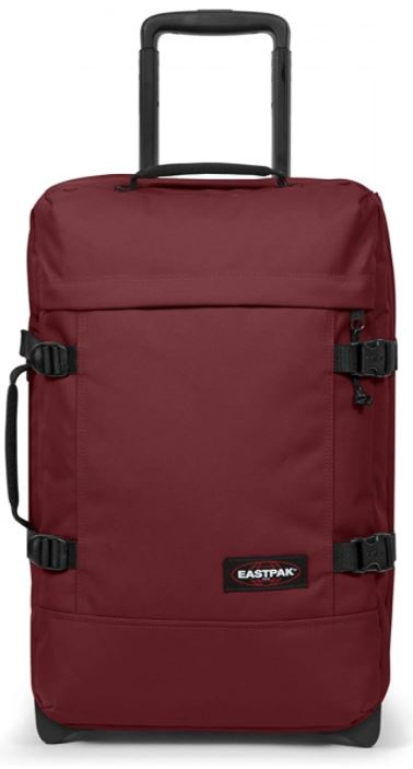 valise cabine Eastpak Tranverz couleur bourgogne vif