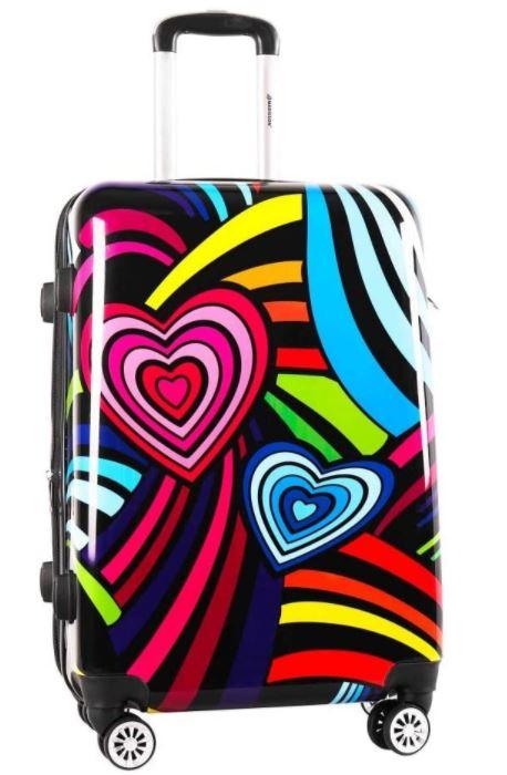 valise cabine madisson coeurs multicolore pour enfant fille