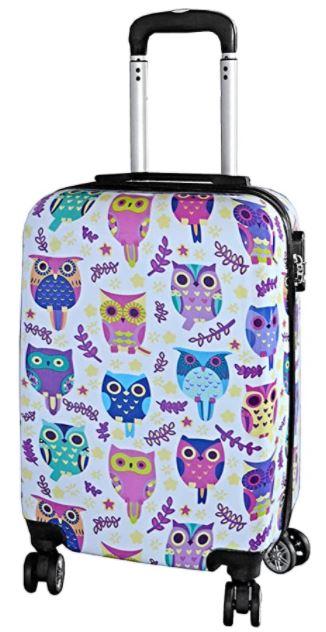 valise cabine madisson fille motifs hiboux chouettes