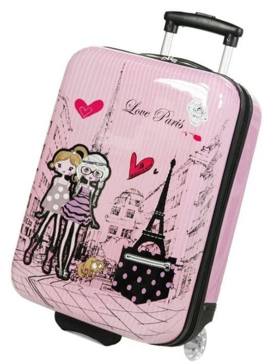 valise cabine madisson fille rose love paris