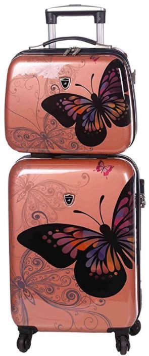 valise cabine madisson rose gold pour fille et vanity case