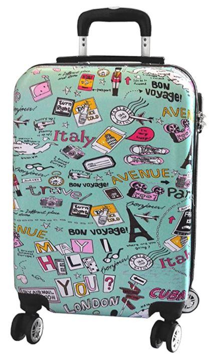 valise cabine madisson verte pour fille