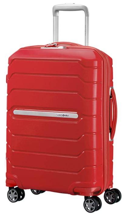 valise cabine rigide pas cher samsonite Flux spinner rouge