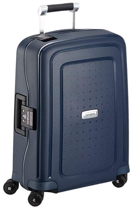 valise cabine rigide samsonite Scure DLX spinner bleu