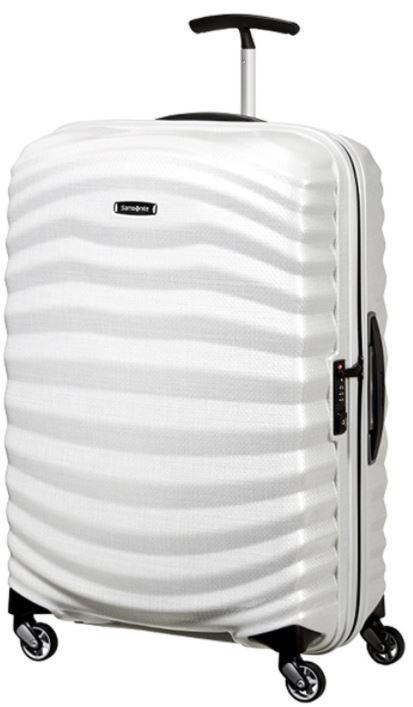 valise cabine samsonite Lite shock Spinner blanche