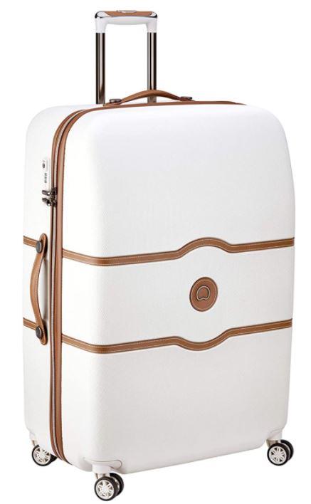 valise delsey paris chatelet air blanche et marron