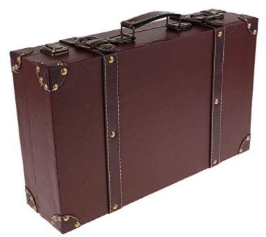 valise retro en bois vintage