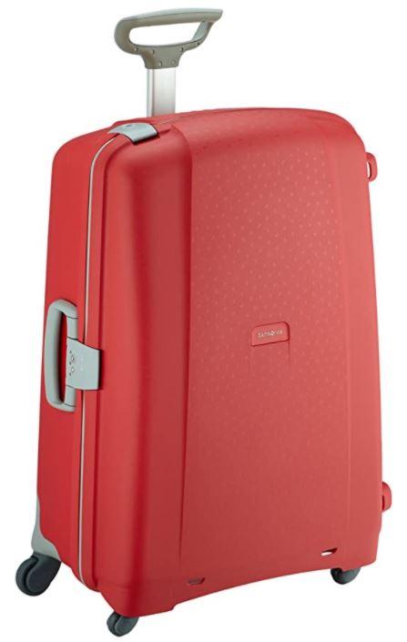 valise rigide rouge samsonite aeris spinner
