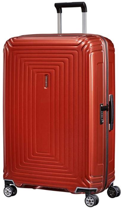 valise rigide rouge samsonite neopulse spinner