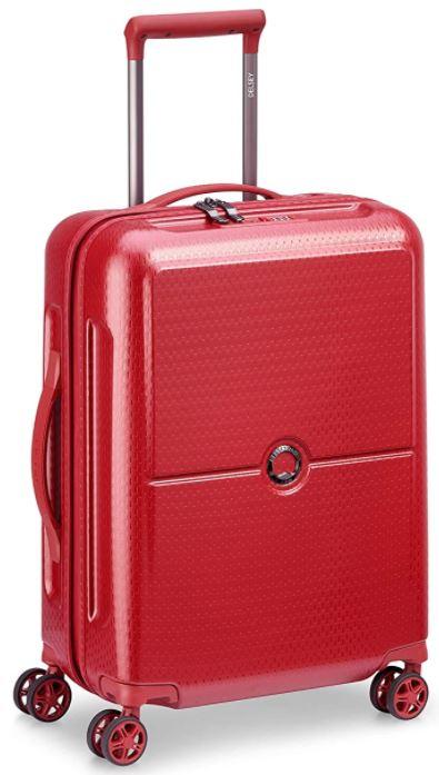 valise taille cabine rouge de Delsey modele Turenne