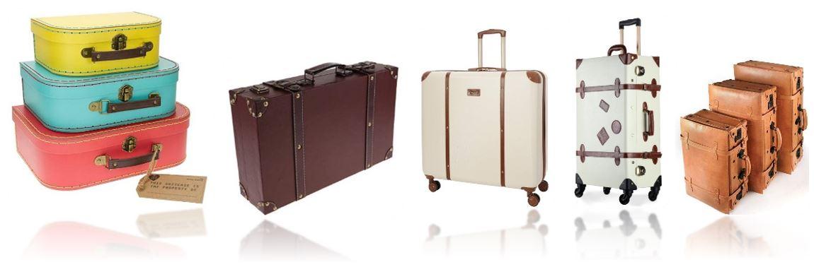 valises vintages retro comparatif