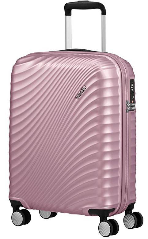 Jetglam rose metallique pour femme bagage taille cabine de la marque American Tourister