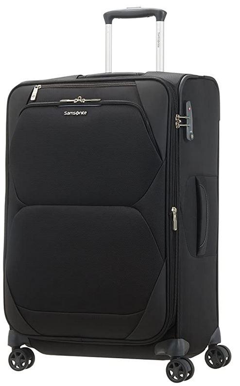 bagage souple Samsonite Dynamore Spinner noir mesurant 67cm avec 82 litres de contenance