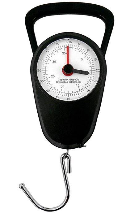 balance a bagage de type analogique avec crochet et indicateur de poids analogique jusqua 35 kg