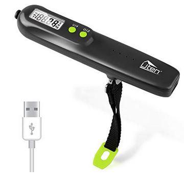 balance pese bagage rechargeable via USB avec batterie de 2600mAh pour peser des bagages de 50 kg et moins affichage digital