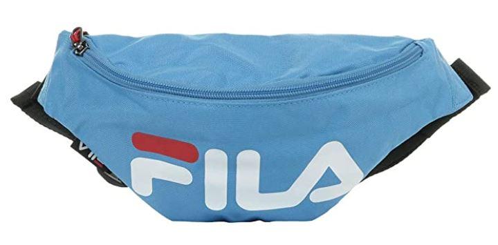 banane Fila Waist Bag bleu clair avec le logo blanc et rouge