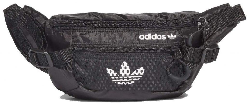 banane reglable noire de marque Adidas avec devant en mesh