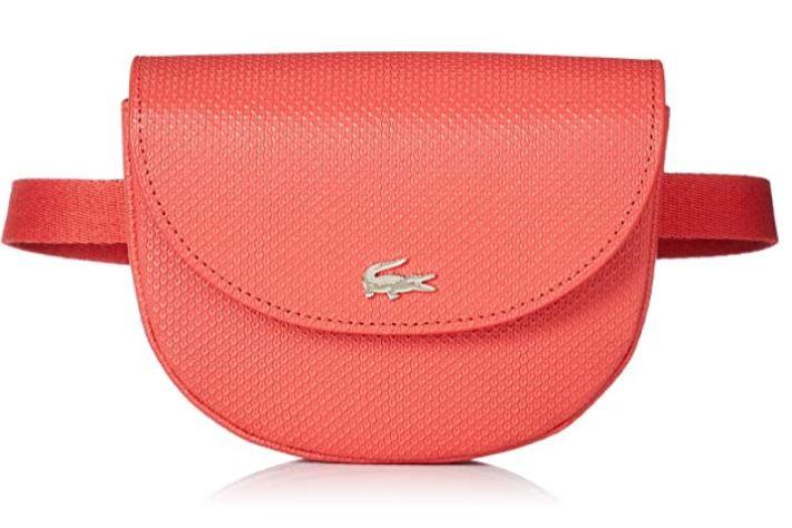 banane rose en cuir pour femme de la marque Lacoste modele NF3049CE
